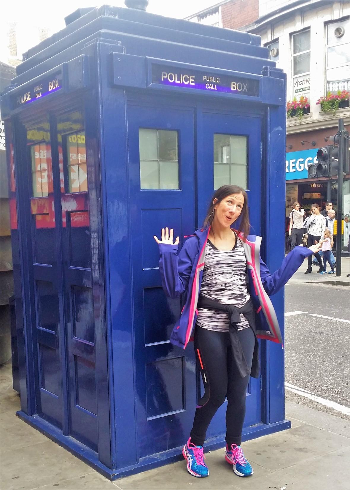 Samantha Andrews at the Tardis